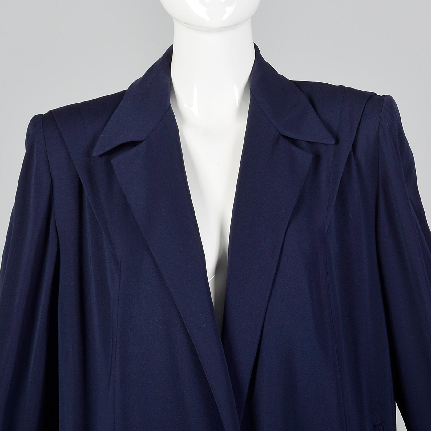 1940s Navy Blue Gabardine Coat
