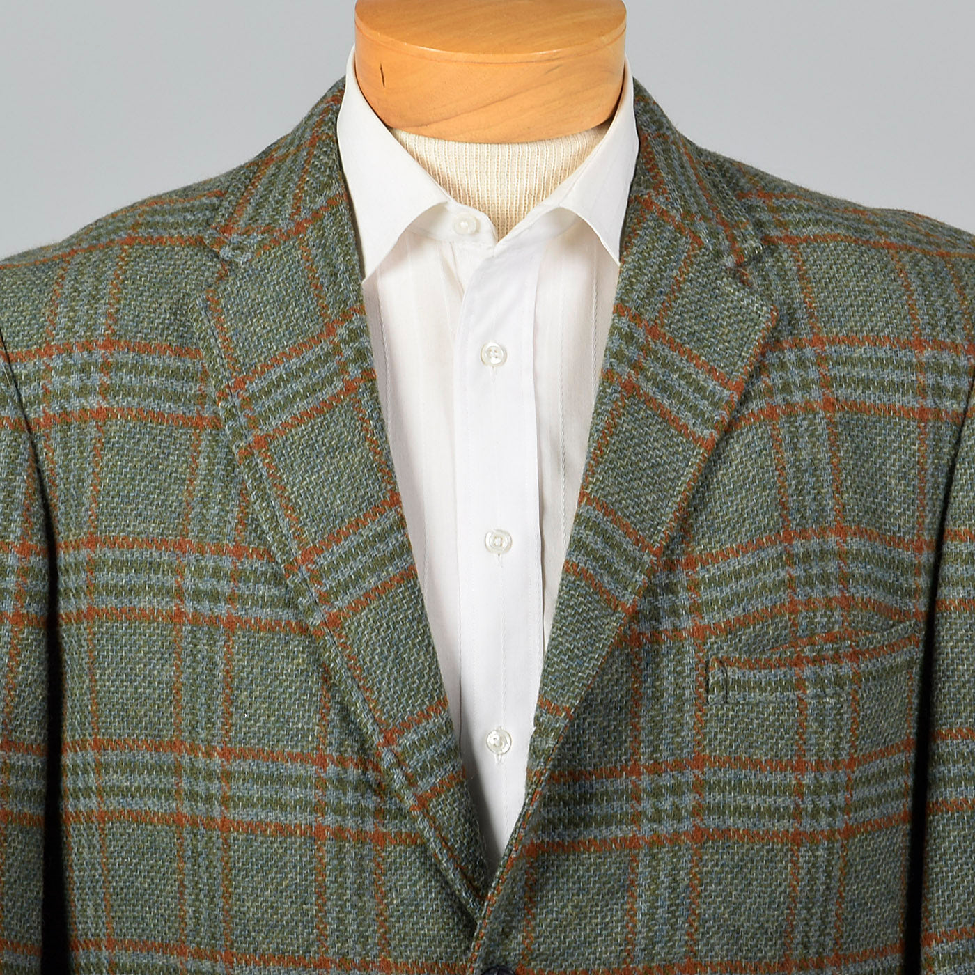 1960s Green Plaid Jacket
