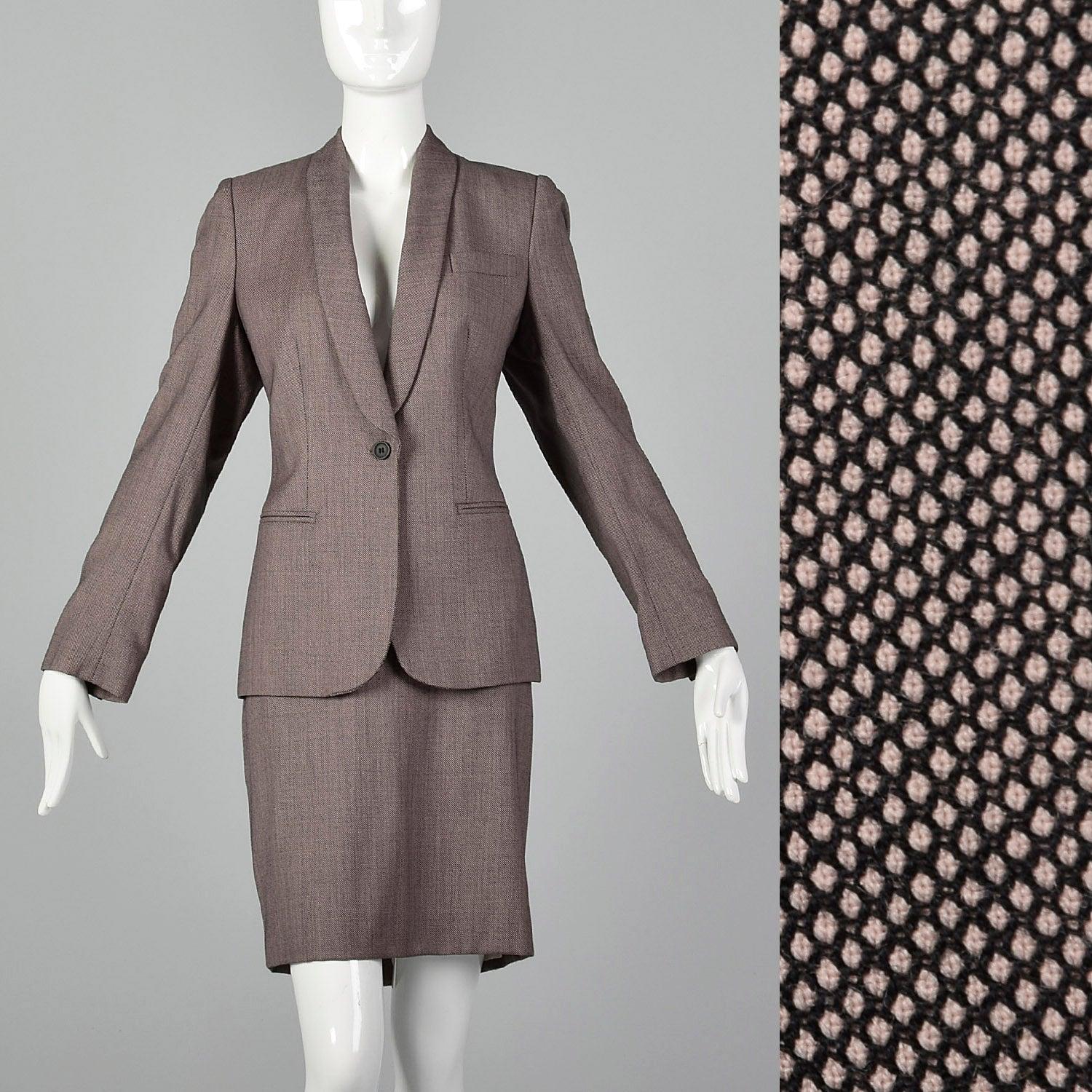 5ad179df44 Large Alexander McQueen Pre 2002 Skirt Suit – Style & Salvage