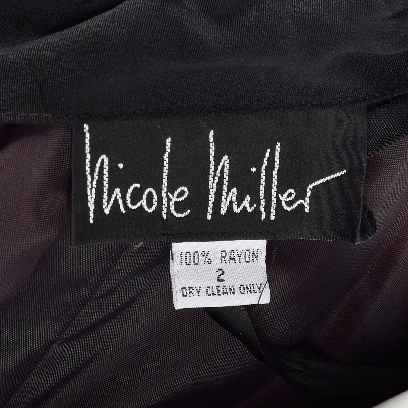 1990s Nicole Miller Off Shoulder Little Black Dress