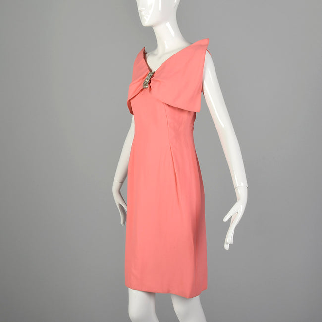 XS 1960s Pink Cocktail Dress