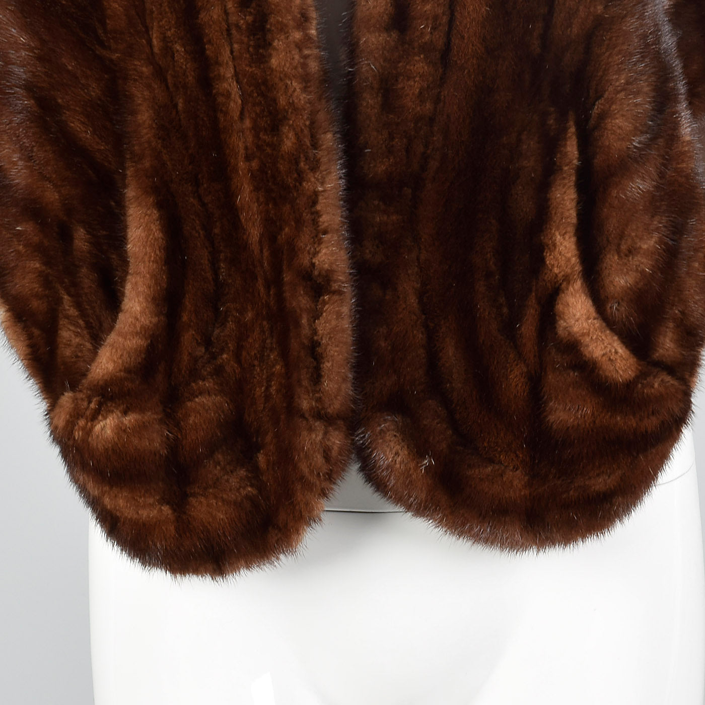 1950s Brown Mink Stole with Pockets