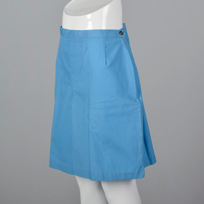 1960s Blue Mini Skort Shorts