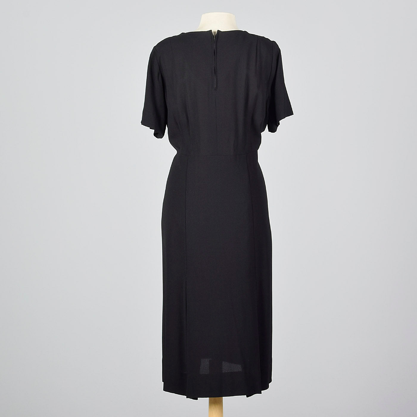 1950s Little Black Dress with Rhinestone Detail