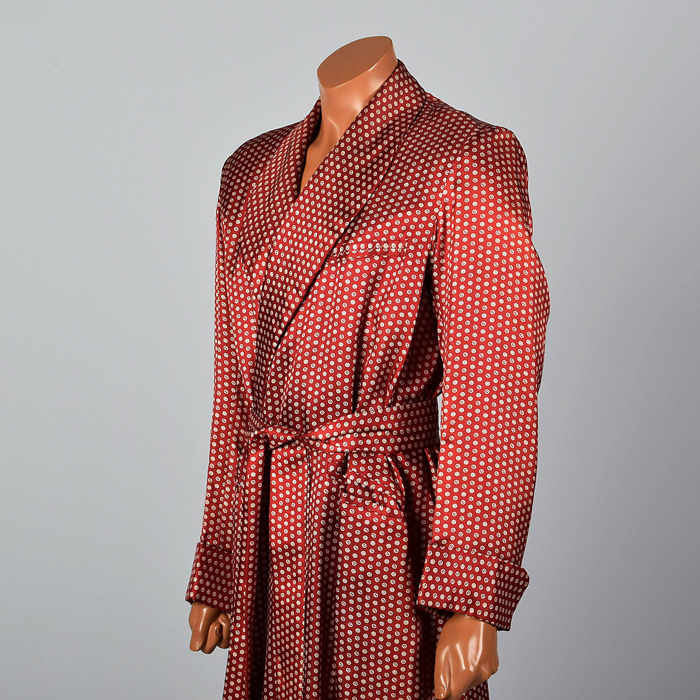 1950s Mens Deadstock Rayon Robe