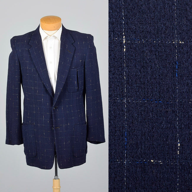 1950s Navy Blue Atomic Fleck Jacket