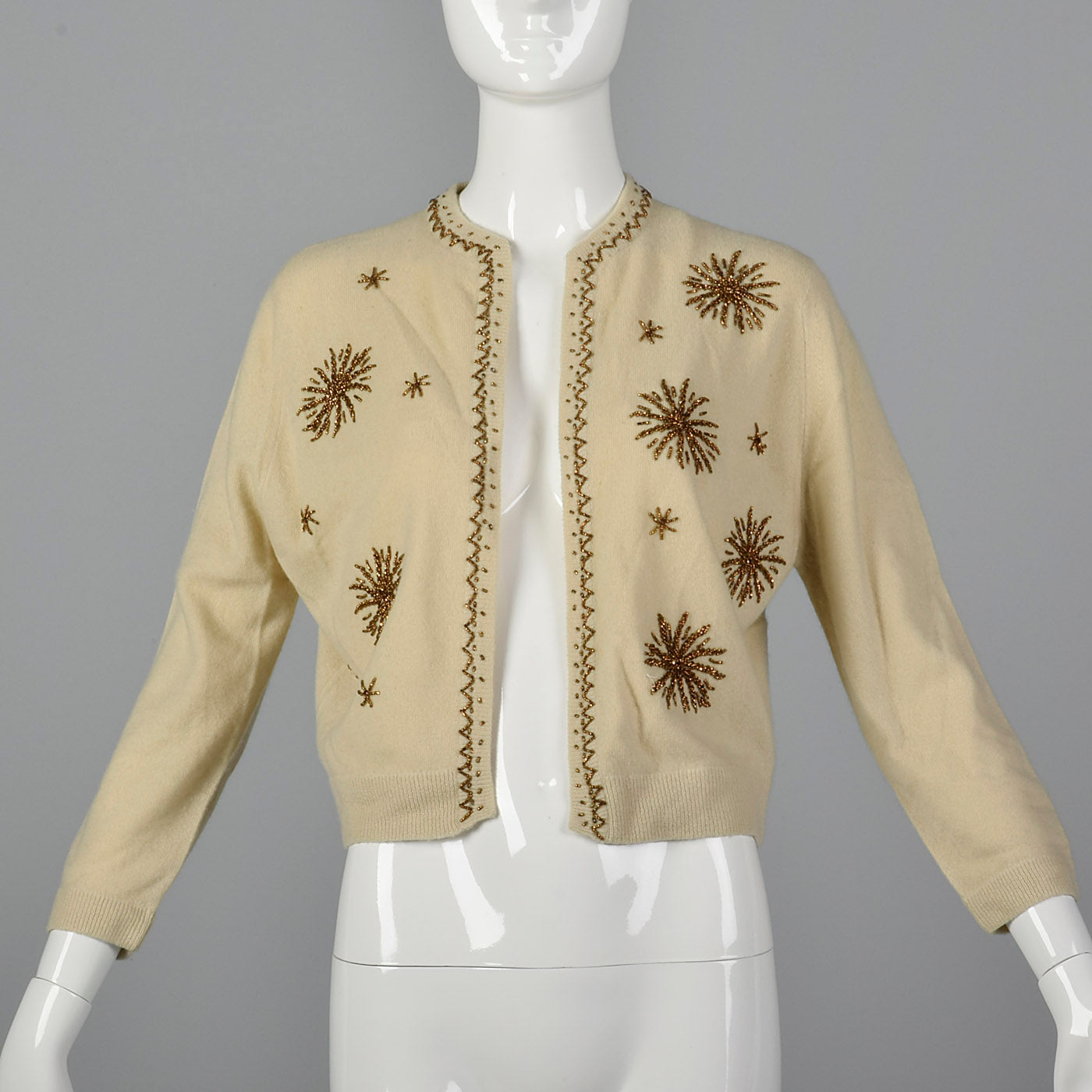 1950s Beaded Cashmere Cardigan