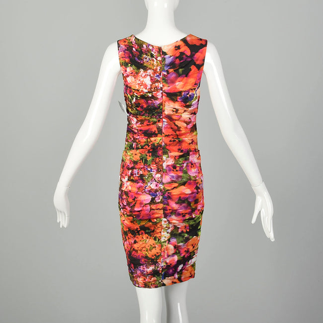 XS Nicole Miller Artelier Floral Mini Dress Summer Sleeveless Designer