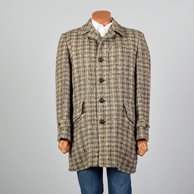 1950s McGregor Brown Wool Tweed Coat
