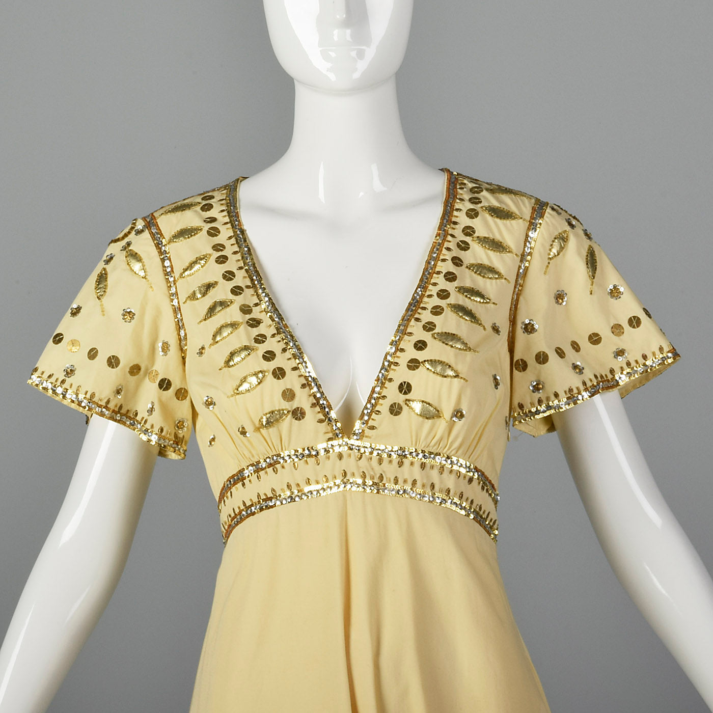 2000s Temperley Cream Dress with Beading