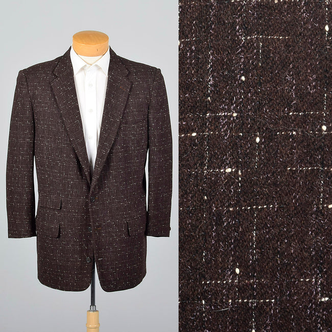 1950s Mens Atomic Fleck Jacket in Brown