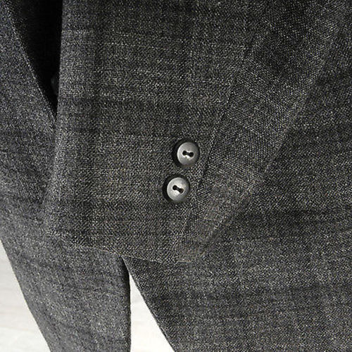 1950s Mens Gray Windowpane Jacket