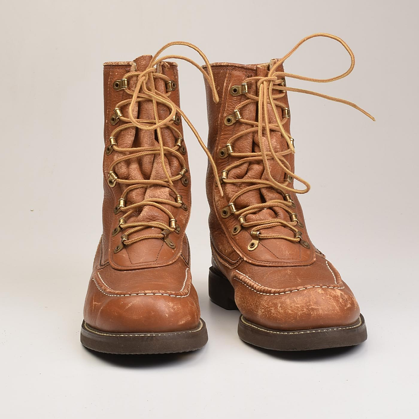 1960s Mens Deadstock Brown Work Boots