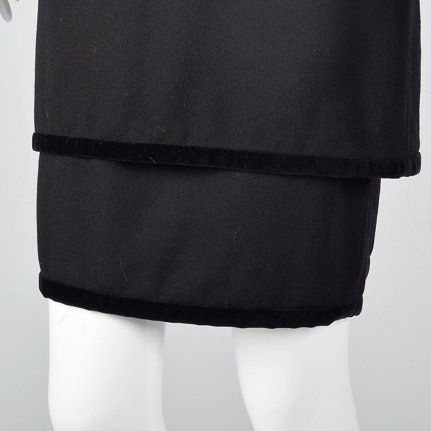 1980s Valentino Miss V Black Dress