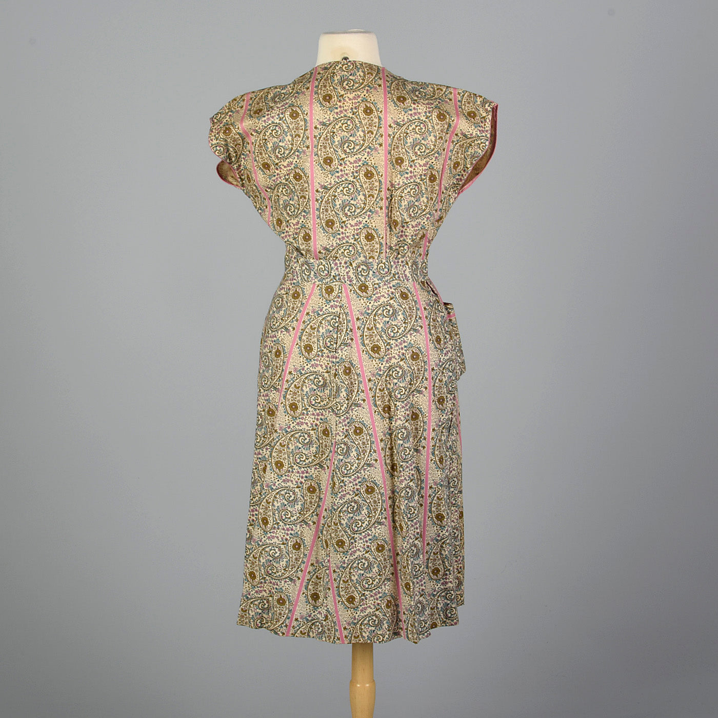 1950s Cotton Wrap Dress