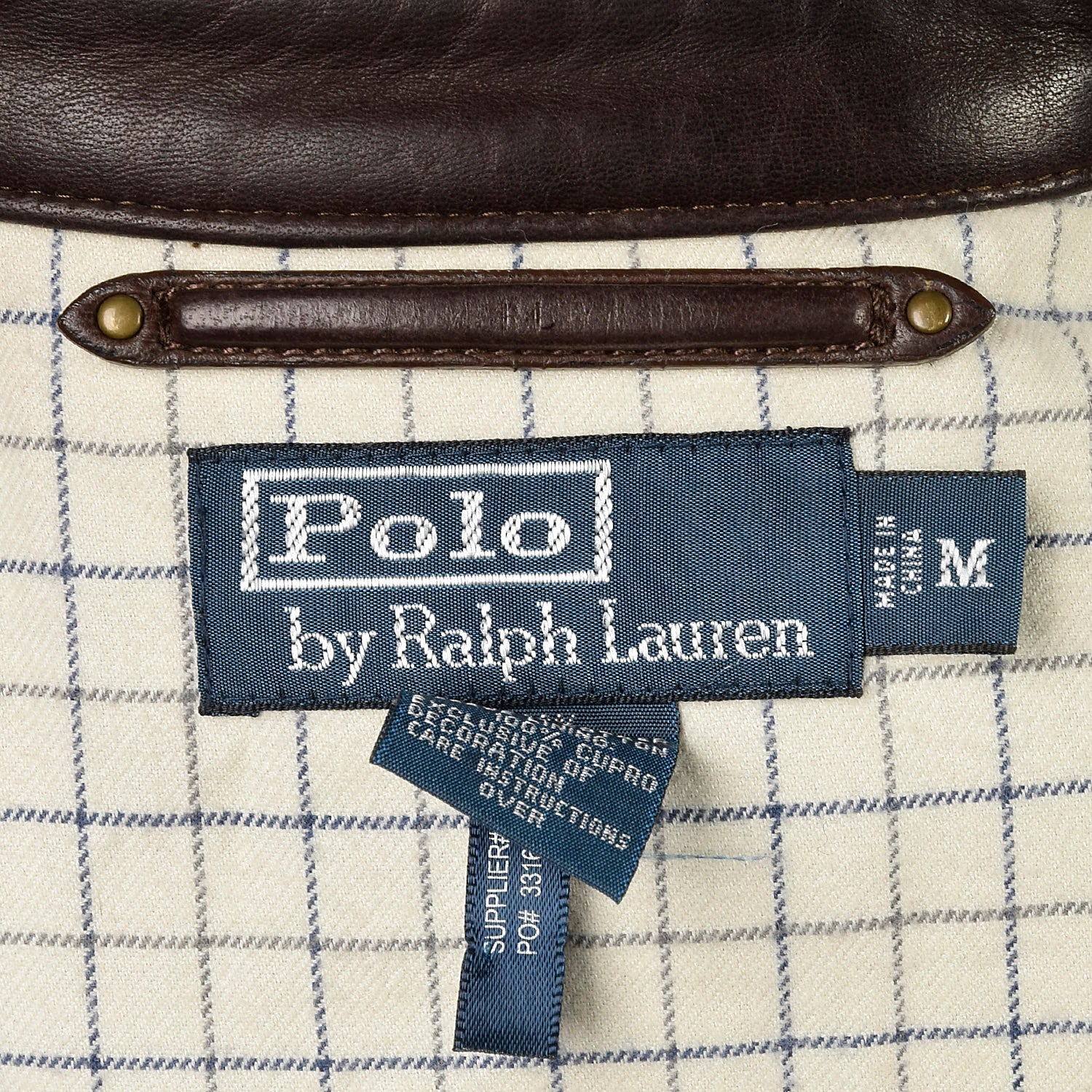 Medium Polo Ralph Lauren Brown Leather Jacket