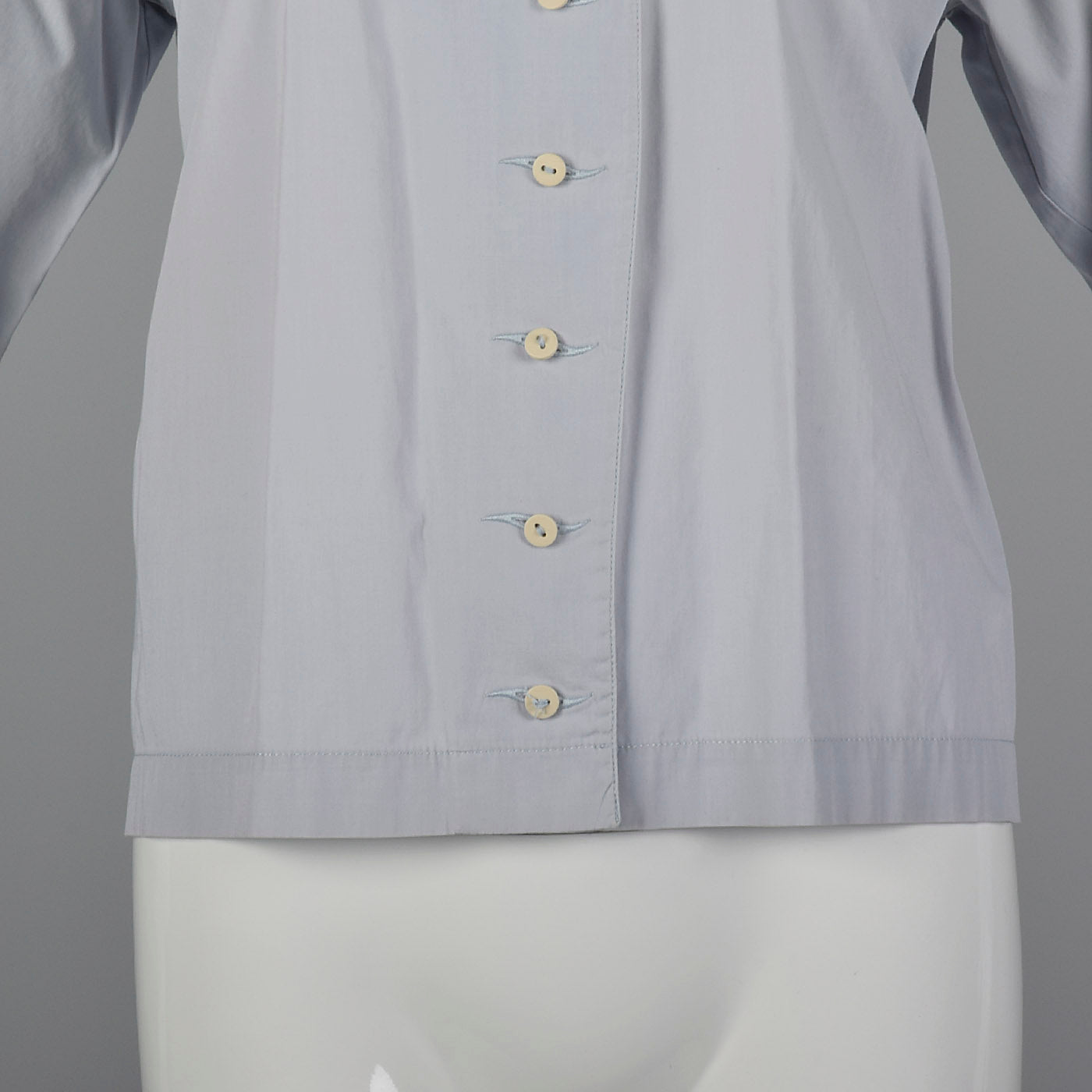 1980s Claude Montana Gray Blouse