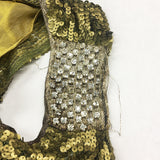 1920s Sequined Dress with Gold Lamé & Silk Details