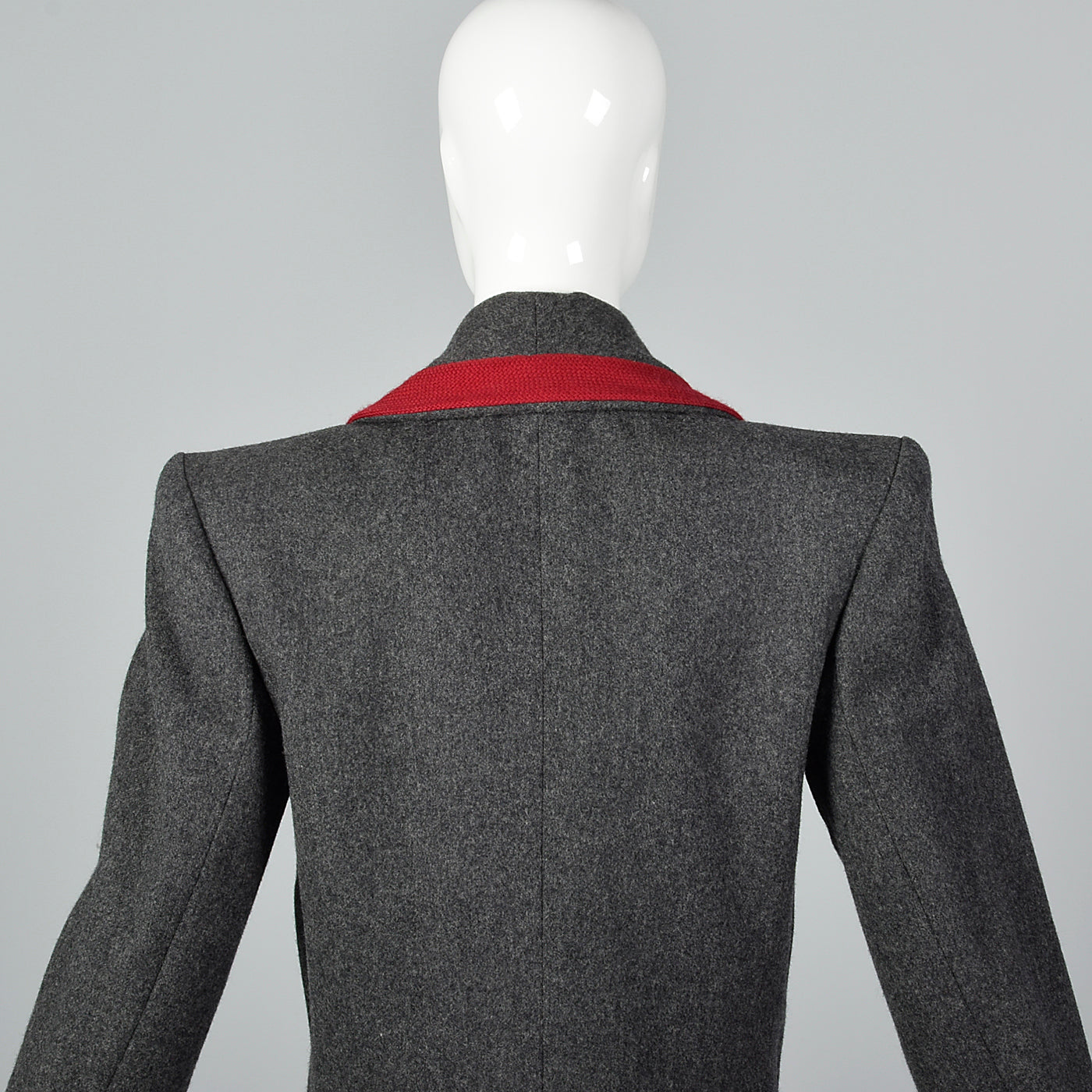 1980s Yves Saint Laurent Rive Gauche  Rive Gauche Gray Wool Jacket