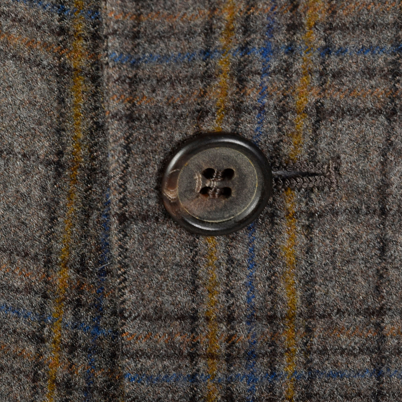 1970s Mens Gray and Yellow Plaid Jacket
