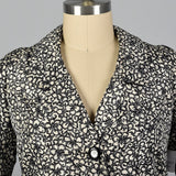 1960s James Galanos Formal Silk Opera Coat in a Black and White Floral