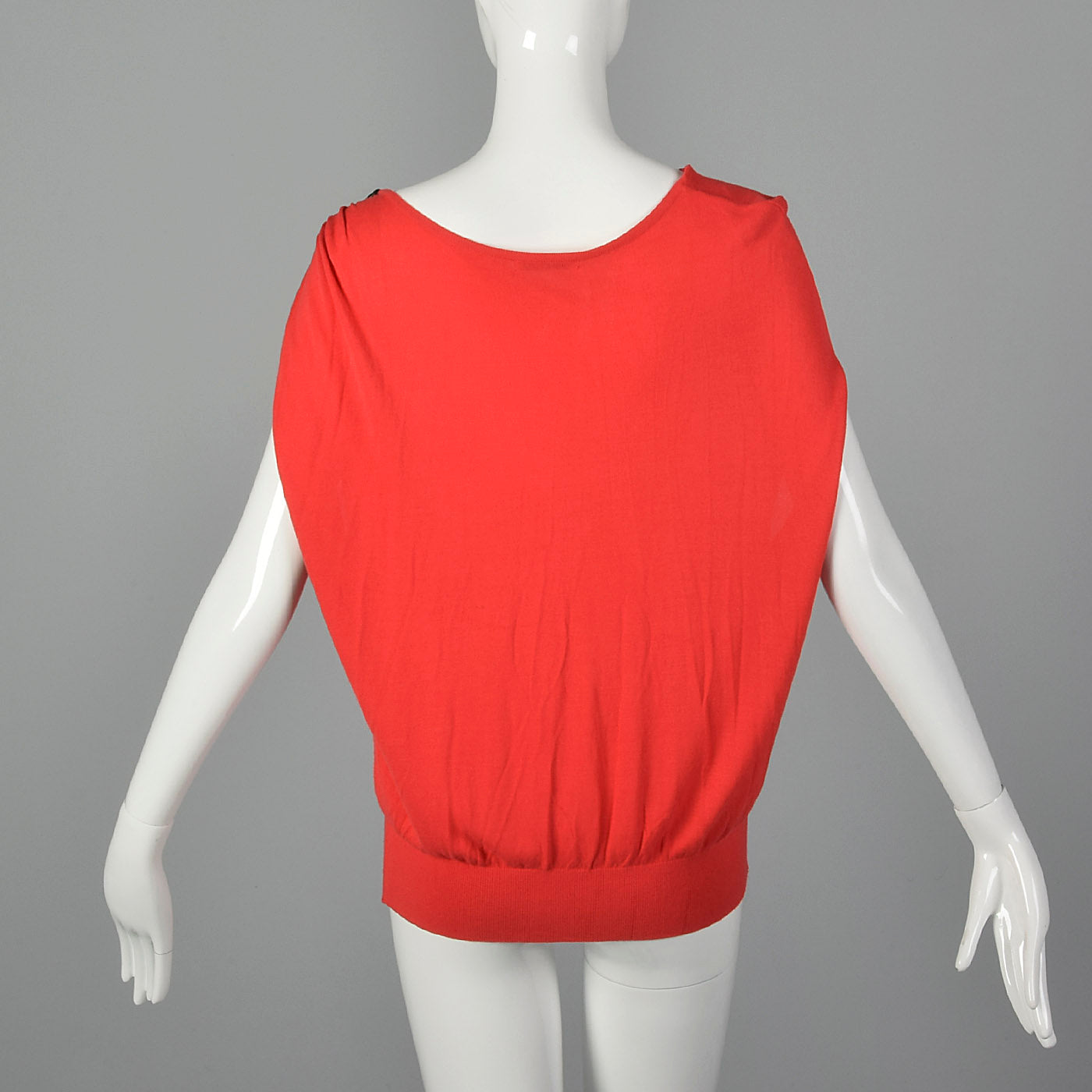 2000s Red Knit Top