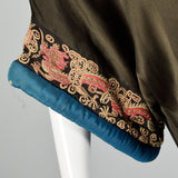 1920s Opera Coat with Embroidered Dragon Sleeves