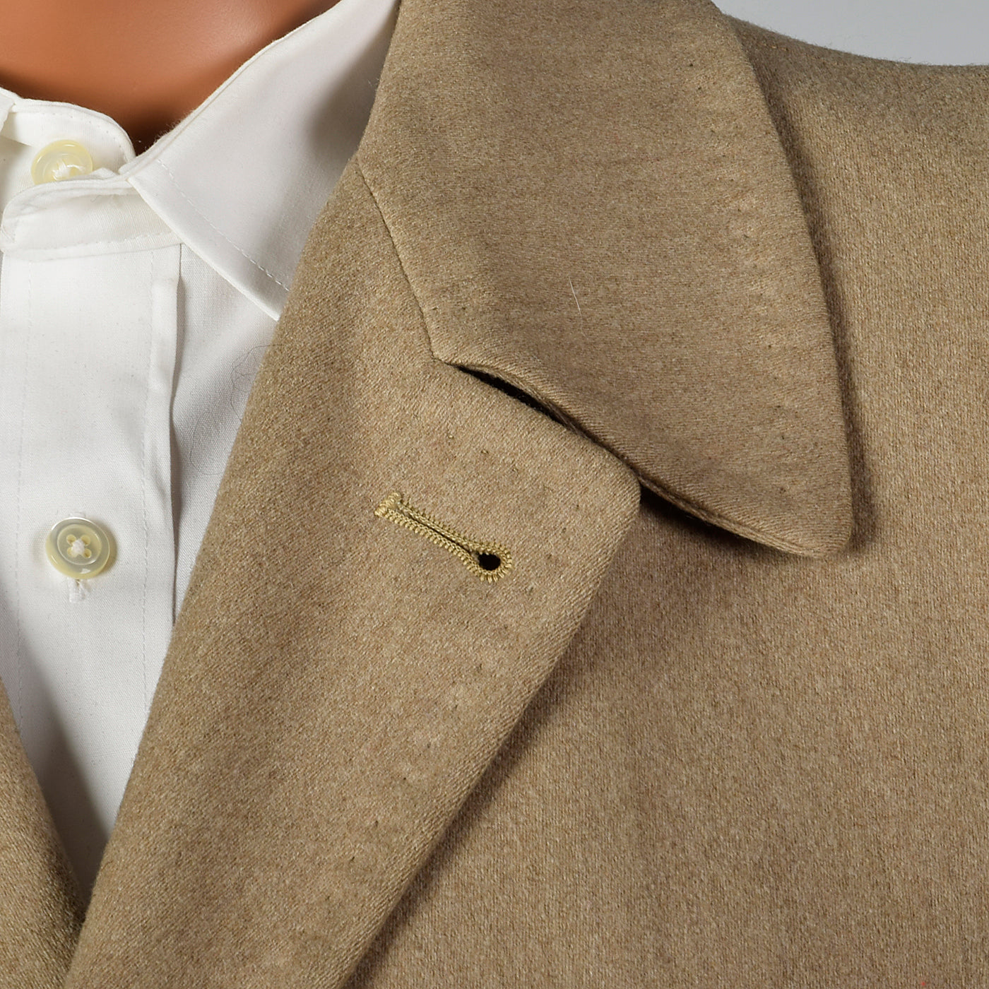 1950s Mens Tan Wool Winter Coat