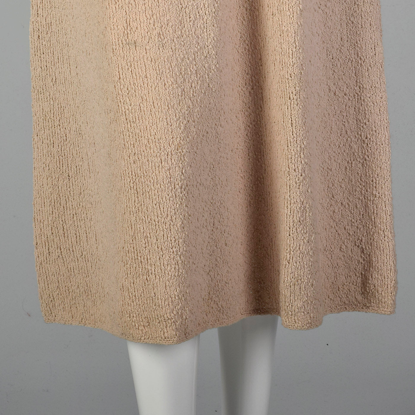 1940s Taupe Knit Dress with Beaded Bust