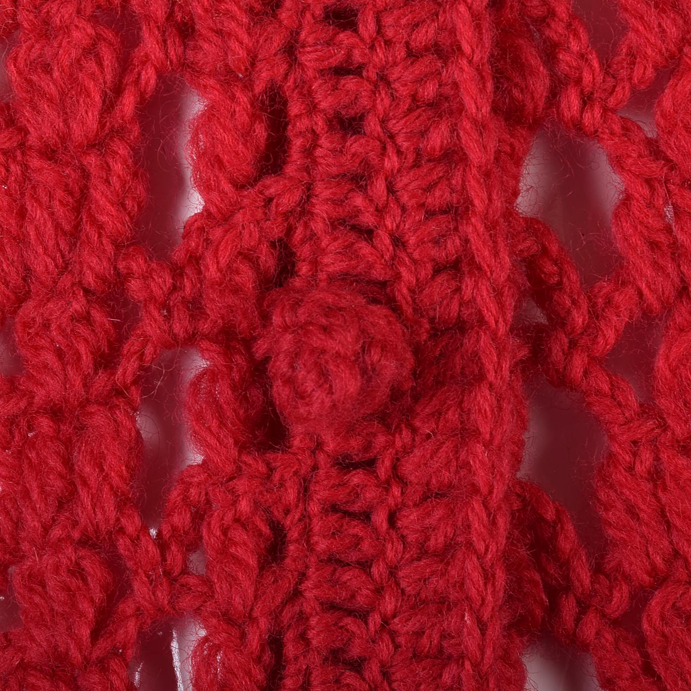 1950s Vibrant Red Open Crochet Cardigan