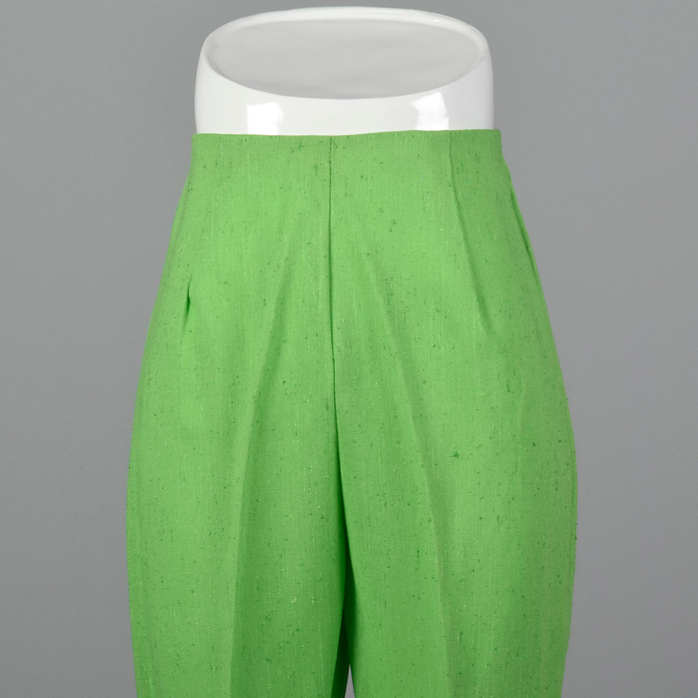 1960s Bright Green Cigarette Pants
