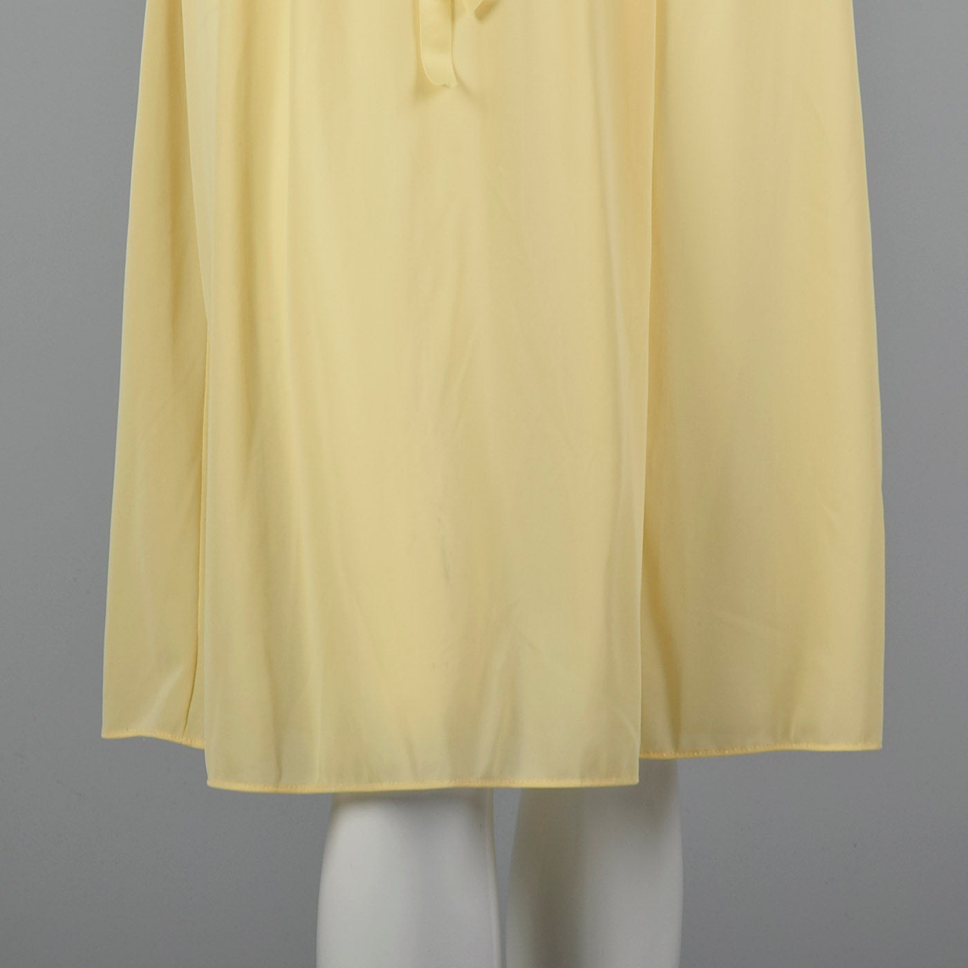 1950s Yellow Nightgown with Tie Back Waist