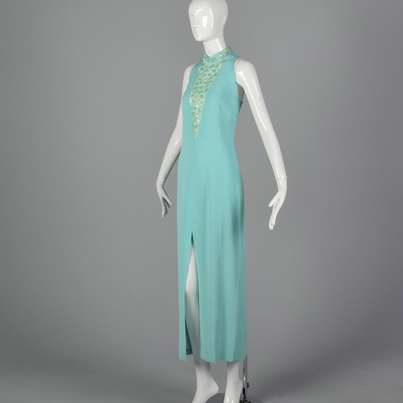 1980s Lillie Rubin Mint Green Dress