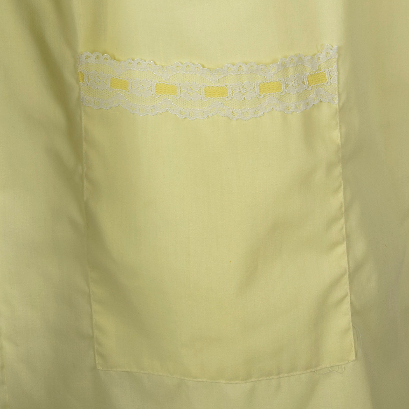 1960s Yellow House Dress with Snap Front