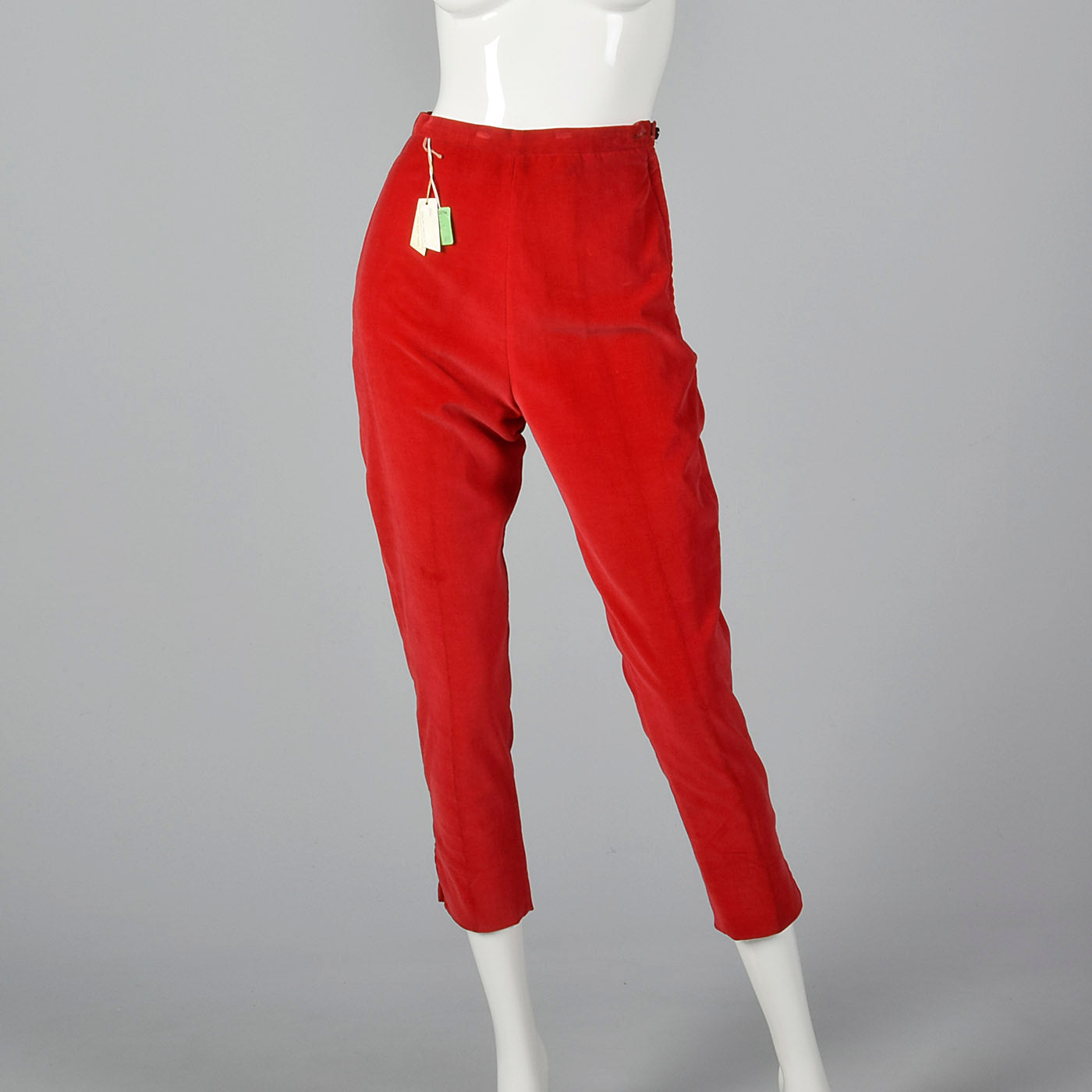 1960s Deadstock Velvet Cigarette Pants & Op Art Tunic Top Ensemble