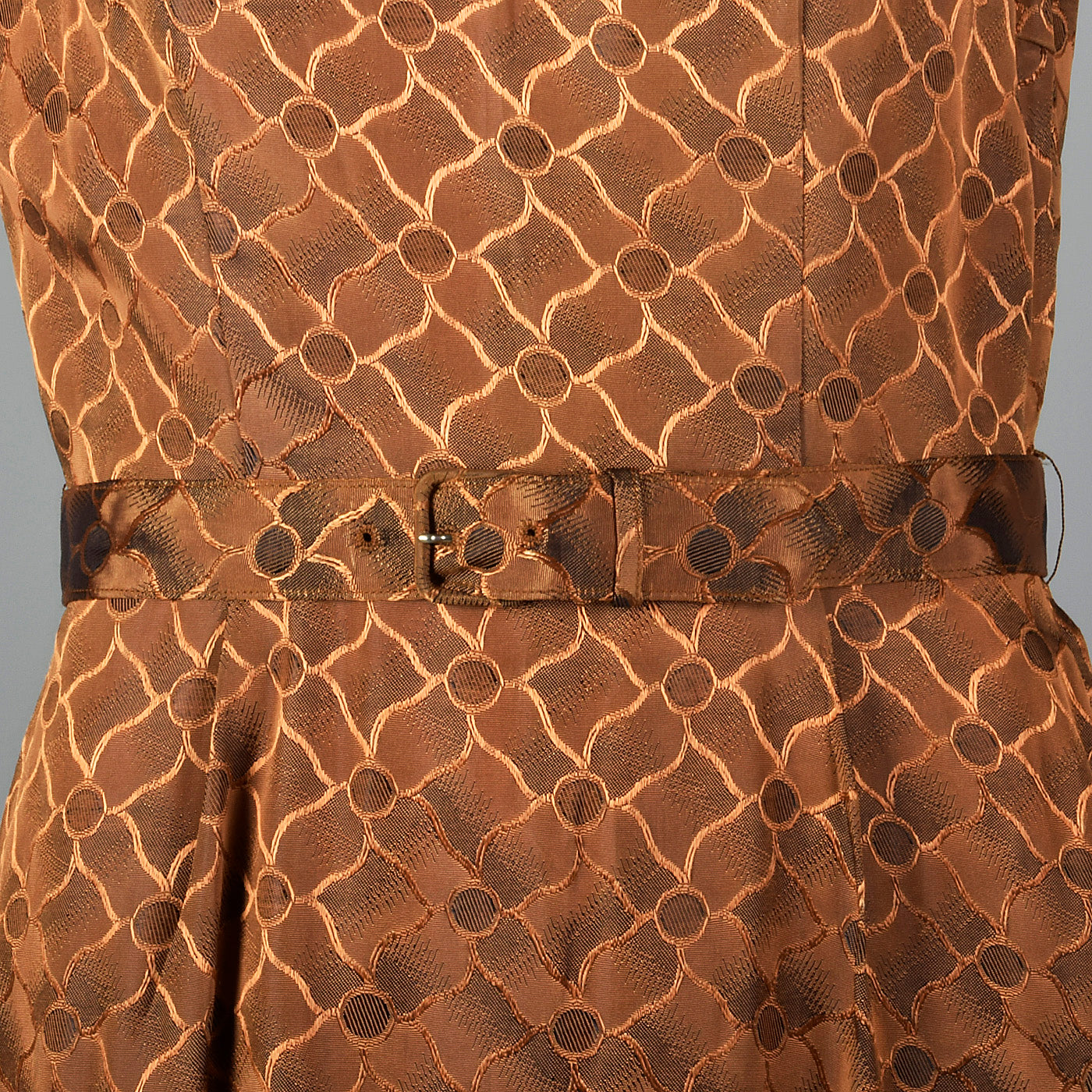1950s Bronze Pencil Dress