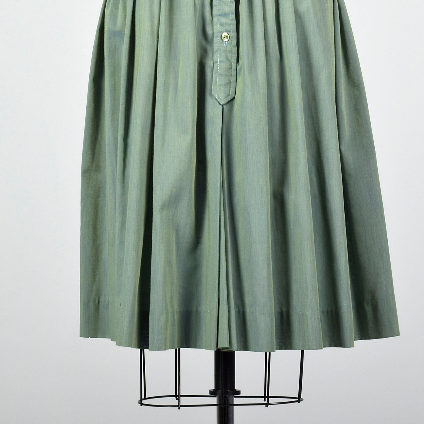 1960s Green and Blue Sharkskin Dress