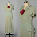 XXL 1940s Green Long Dress