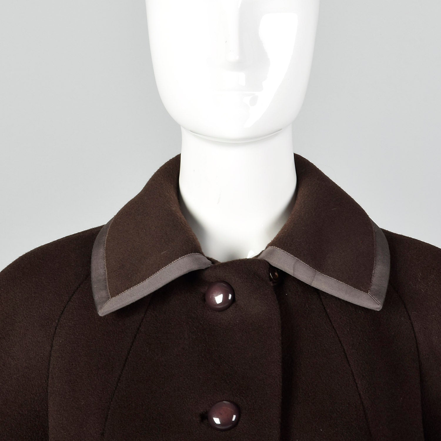 1960s Forstmann Brown Wool Coat