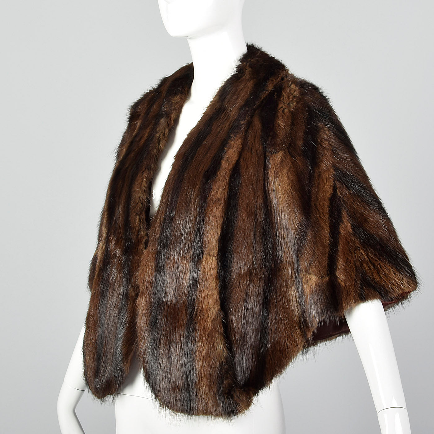 1940s Long Haired Beaver Fur Stole