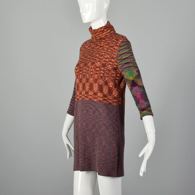 Missoni 1970s Turtleneck Mini Dress