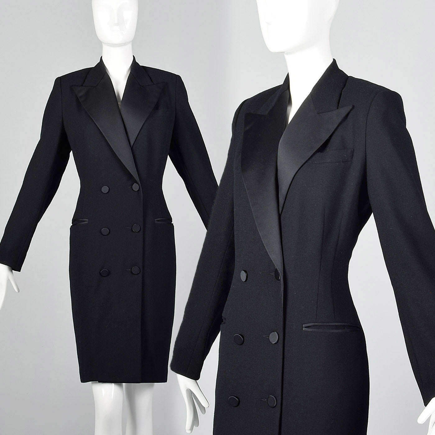 1980s Brooks Brothers Tuxedo Dress