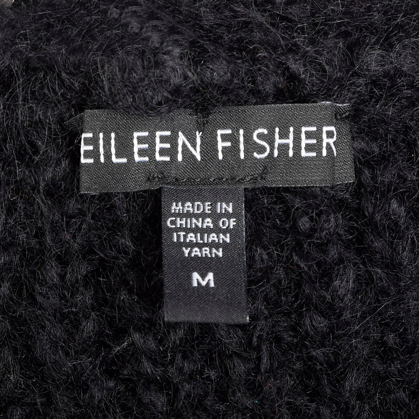 2010s Eileen Fisher Mohair Black Knit Vest