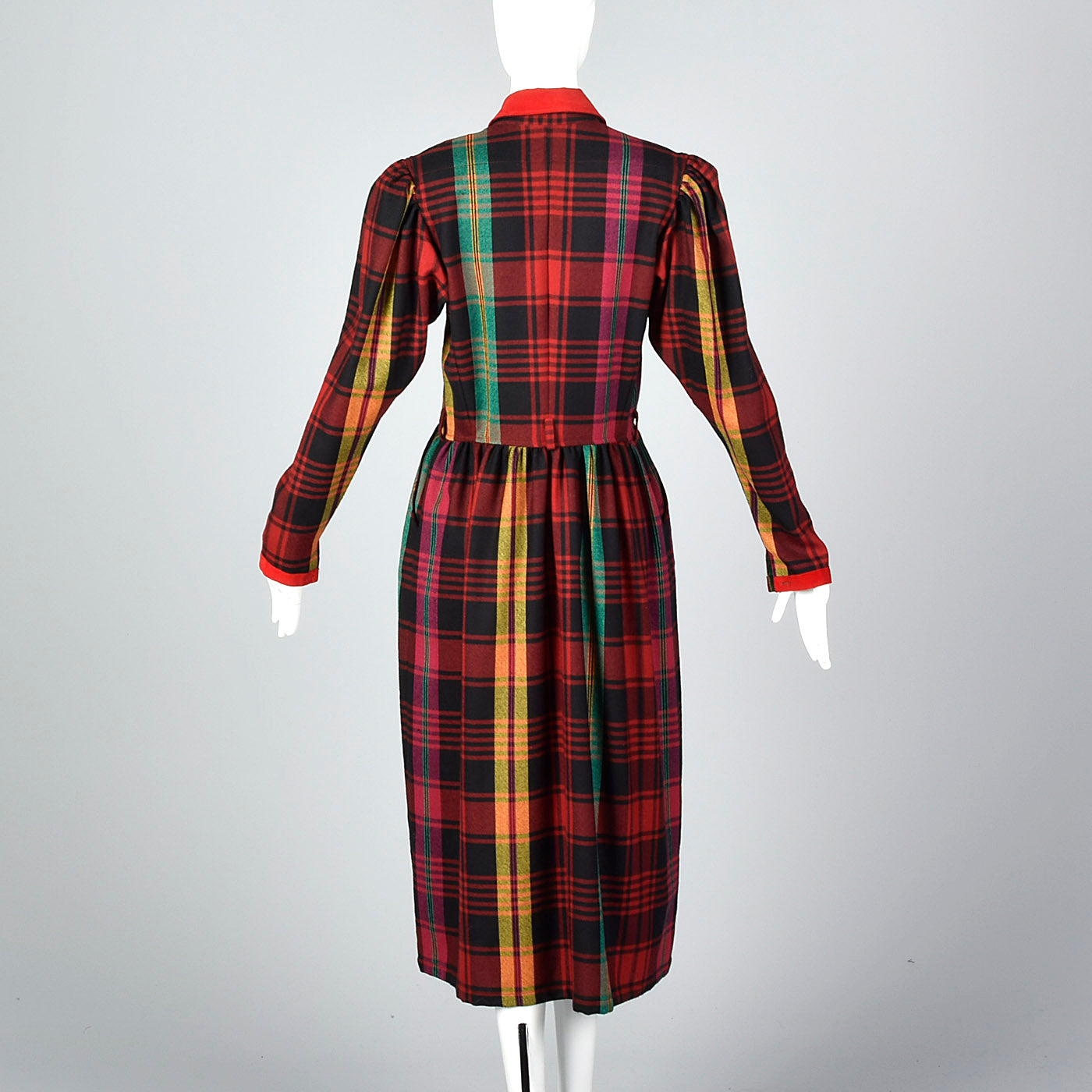 1990s Kenzo Rainbow Plaid Dress
