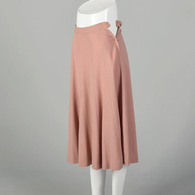 XS 1940s Dust Pink Skirt