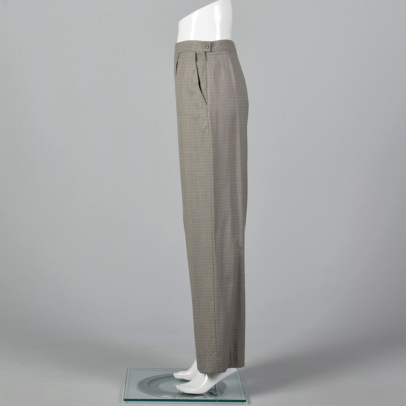 1990s Hermès Wool Pants in Heathered Gray