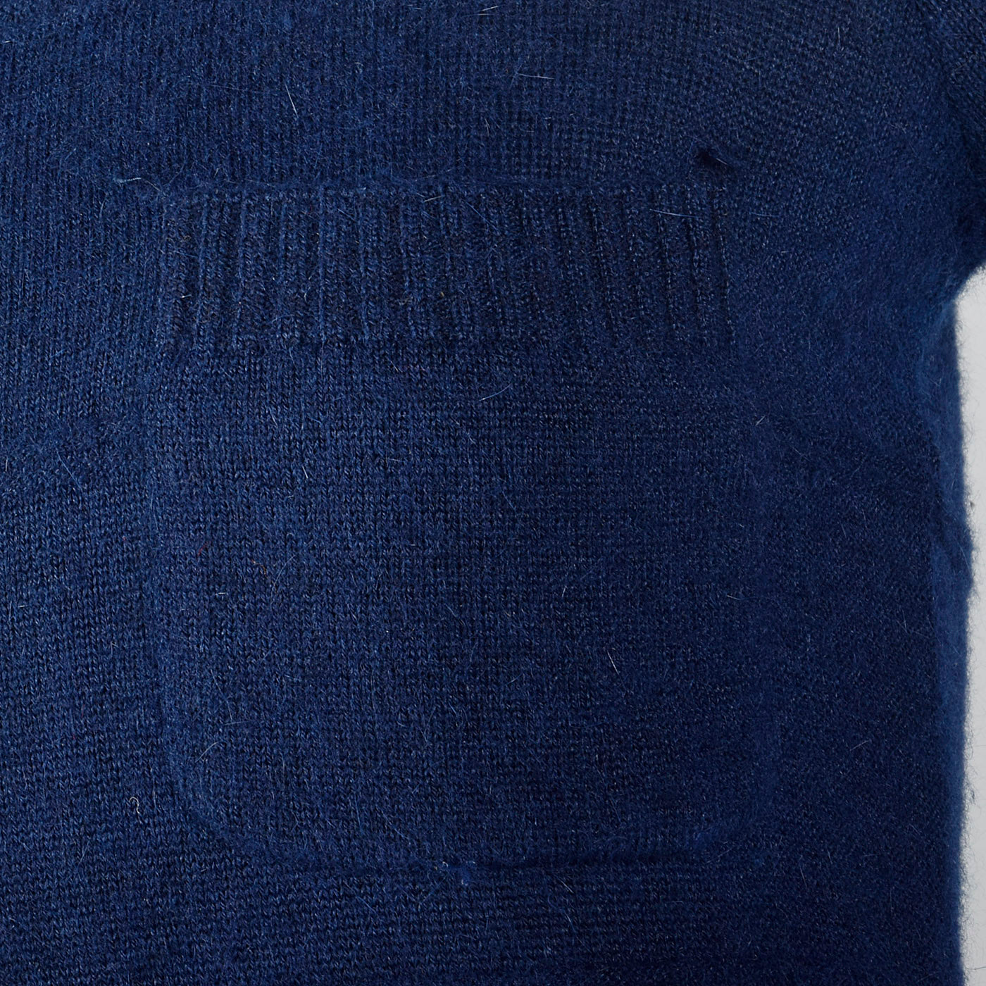 1970s Courreges Navy Blue Angora Sweater