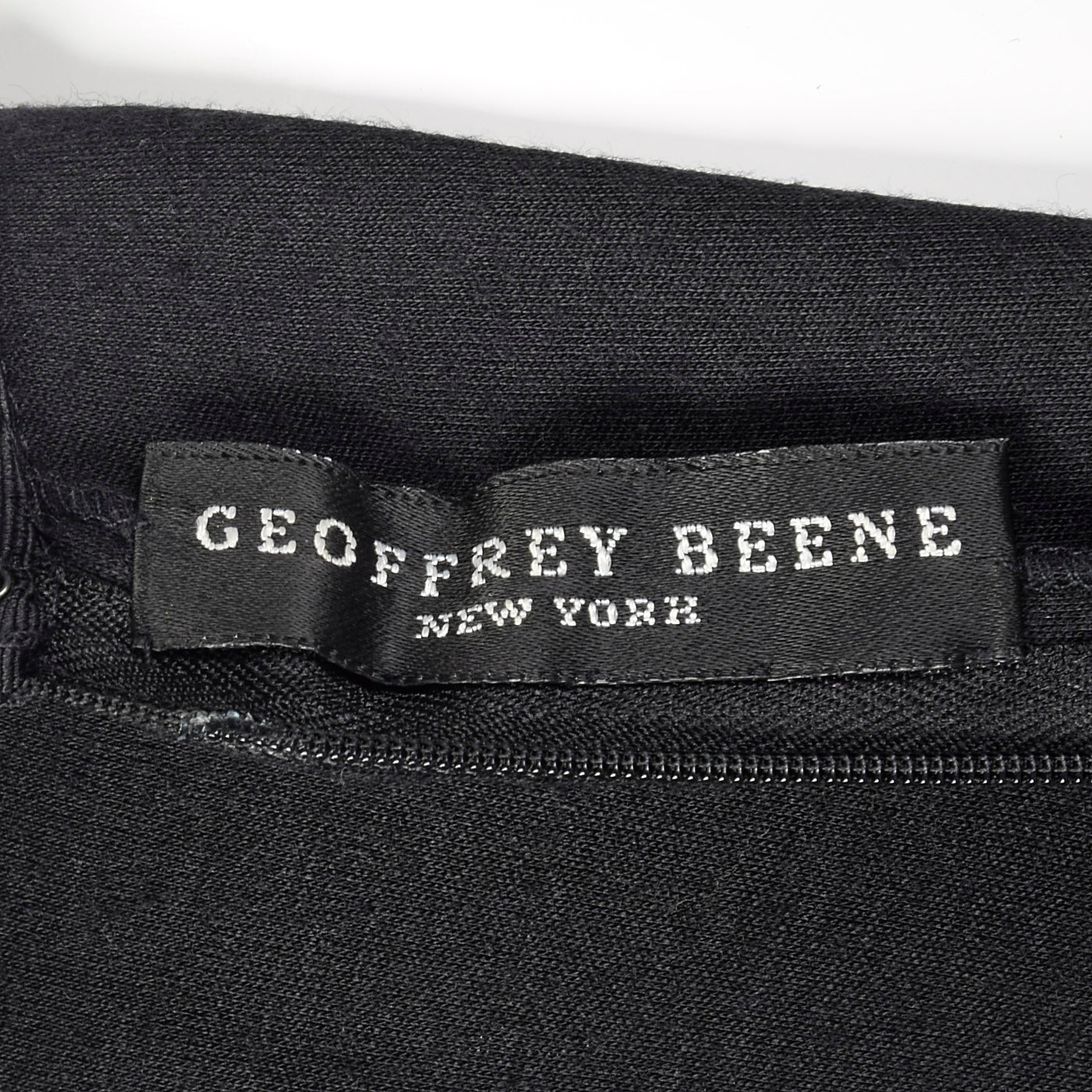 1980s Geoffrey Beene Black Dress with Shaped Shoulders