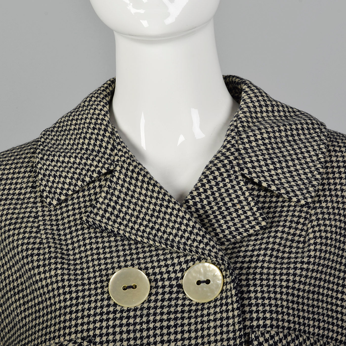 1960s Cropped Houndstooth Jacket
