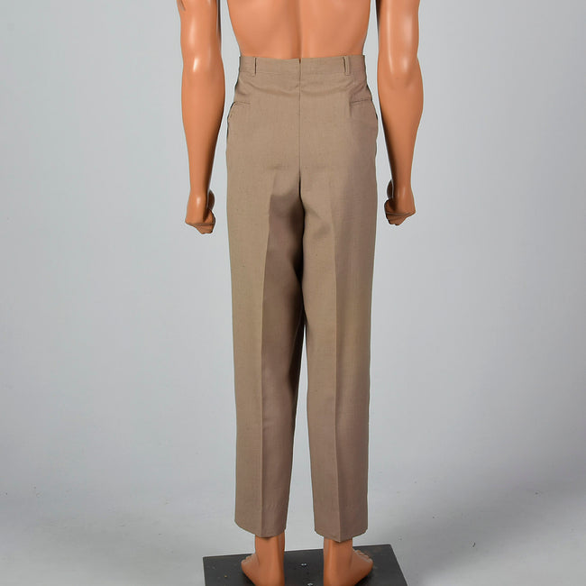 Large 1960s Palm Beach Brown Pants